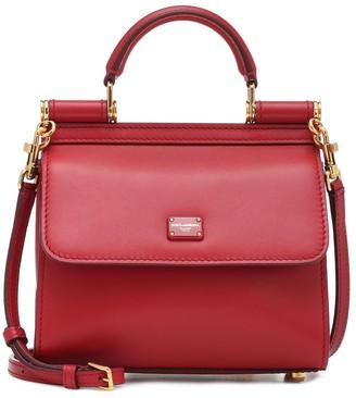 Dolce & Gabbana Sicily 58 Mini leather shoulder bag