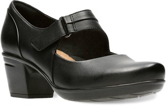 Clarks Emslie Lulin Women's Leather Mary Jane Heels