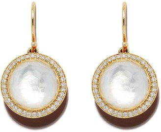 Ippolita 18kt yellow gold Lollipop Carnevale diamond drop earrings
