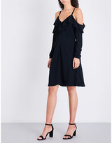 A.L.C. Felicia cold-shoulder crepe dress