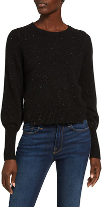 Frame Le Mix Balloon-Sleeve Cashmere Sweater