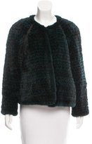 Yigal Azrouel Knitted Mink Jacket