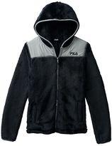 Girls 7-16 FILA SPORT Hooded Fuzzy Zip-Up Jacket