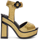Kat Maconie POLLY Platform in Metallic Gold