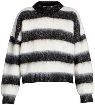 Saint Laurent Mohair-Blend Striped Sweater