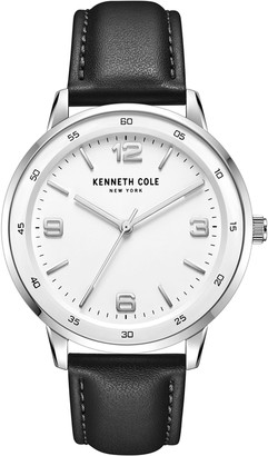 Kenneth Cole New York Men's Black Leather Strap Watch