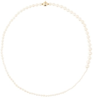 Sophie Bille Brahe Petite Peggy 14kt gold and pearl necklace
