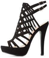 Charlotte Russe Laser Cut Platform Dress Sandals