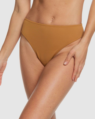 Roxy Womens Seas The Day Mid Waist Separate Bikini Pant