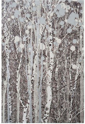 Graham & Brown Watercolour Woods Canvas With Metallic