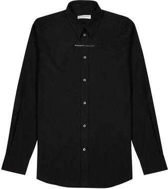 Givenchy Black logo cotton shirt