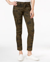 Hudson Cropped Skinny Cargo Jeans, Rustic Camo Print