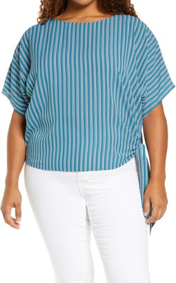 MICHAEL Michael Kors Stripe Side Tie Top