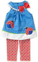 Rare Editions Baby Girls 3-24 Months Ladybug Top & Printed Leggings Set