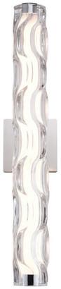 Vaxcel Marseille 1 Light LED Bathroom Vanity Fixture Clear Glass, Chrome, 24-