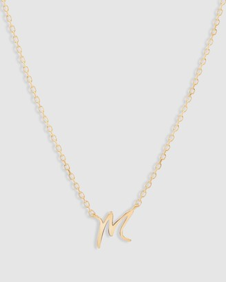 By Charlotte 14K Gold Love Letter Necklace - M