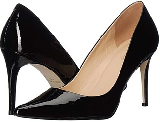 Massimo Matteo 90 mm Pointy Toe Pump (Black Patent) Women's Shoes