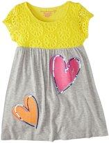 Design History Heart Crochet Lace Dress (Toddler/Kid) - Yellow-4