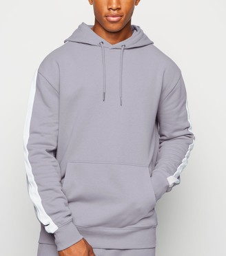 New Look Side Stripe Long Sleeve Hoodie