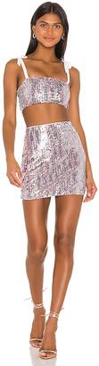 superdown x Draya Michele Angelika Sequin Skirt Set
