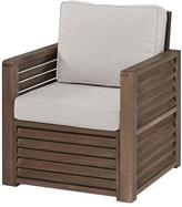Home Styles Barnside Shorea Wood Chair with Polyester Cushion in Aged Finish