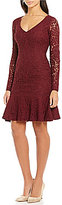 Antonio Melani Nelly V-Neck Lace Sheath Dress