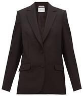 Pallas X Claire Thomson Jonville X Claire Thomson-jonville - Faulkner Single-breasted Wool-crepe Jacket - Womens - Black