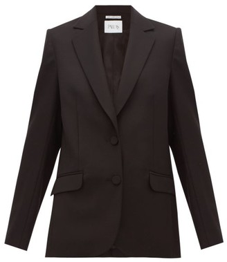 Pallas X Claire Thomson-jonville - Faulkner Single-breasted Wool-crepe Jacket - Womens - Black
