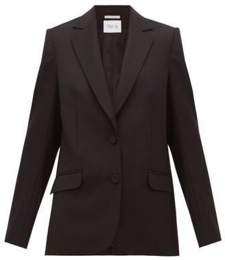 Pallas X Claire Thomson Jonville X Claire Thomson-jonville - Faulkner Single Breasted Wool Crepe Jacket - Womens - Black