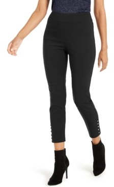 Thalia Sodi Cropped Button-Hem Pants, Created For Macy's