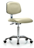 Chloé Mesh Task Chair Symple Stuff Upholstery Color: Adobe, Casters/Glides: Casters