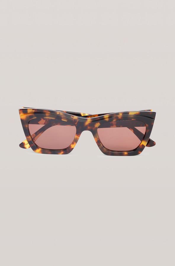 Ganni Biodegradable Rectangular Sunglasses