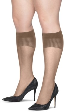 Hanes Plus Size 2-Pk. Curves Sheer Knee Socks