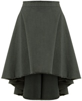 J.W.Anderson Asymmetric-hem cotton-canvas skirt