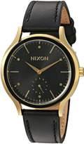 Nixon Women's 'Sala' Quartz Leather Automatic Watch, Color:Black (Model: A995513-00)