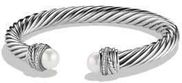 David Yurman Crossover Bracelet with Pearls and Diamonds