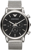 Emporio Armani Stainless Steel Woven Bracelet Watch