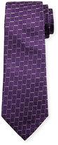 Armani Collezioni Medium Box Woven Silk Tie, Purple