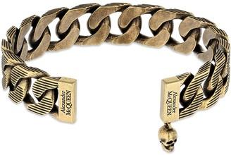 Alexander McQueen Textured Chain Cuff Bracelet