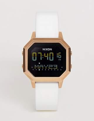 Nixon A1211 Siren Silicone watch in white