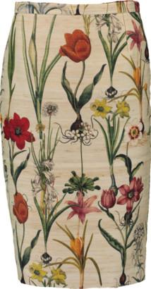 Oscar de la Renta Floral Pencil Skirt