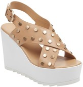 Marc Fisher Kiki Studded Crisscross Wedge Sandal
