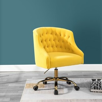 Everly Quinn Pennell Task Chair Quinn Upholstery Color: Yellow