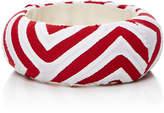 Mola Sasa Red and white printed medium bangle