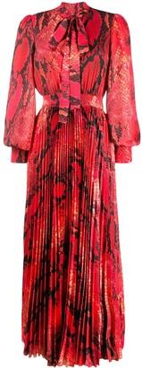 MSGM Snakeskin Print Long Dress