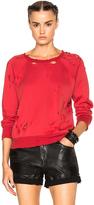 Unravel Destroy Terry Raglan Sweatshirt