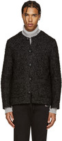 Palm Angels Black Mohair Coco Jacket