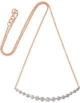 Anita Ko Large Crescent 18-karat Rose Gold Diamond Necklace - one size