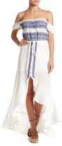 Gypsy 05 Gypsy05 Off-the-Shoulder Flirty Embroidered Dress