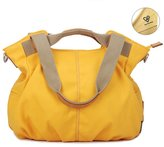 Tiny Chou (TM) Solid Color Women's Water Resistant Canvas Tote Handbag Top Handle Bag Crossbody Bag